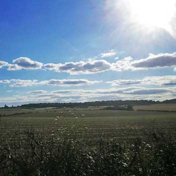 view of countryside in the Home Counties